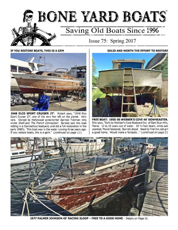 Bone Yard Boats Newsletter Cover Page